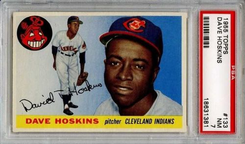 1955 Topps #133 Dave Hoskins Cleveland Indians PSA 7 NM