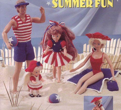 Crochet Barbie summer clothing PDF PATTERNS