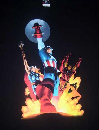 Marvel T-shirt Avengers Black 2XL Graphitti Graphics