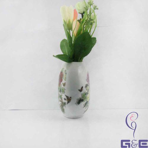 """China Painting Glaze Vase 4""""inches (Fully Peony Paint)"""