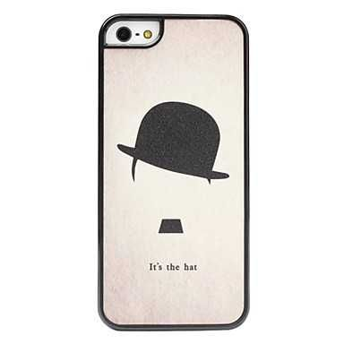 iPhone 5 Case, iPhone 5S Case, Slim Thin Hard Case Hat Cute Design