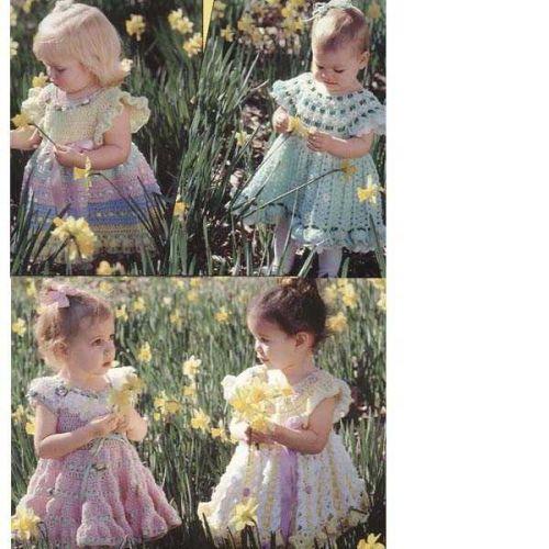 Crochet baby 4 dresses PDF Patterns