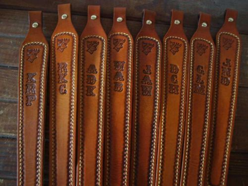 Pre-Order Custom personalized WITH YOUR NAME Leather Rifle Sling without swivals