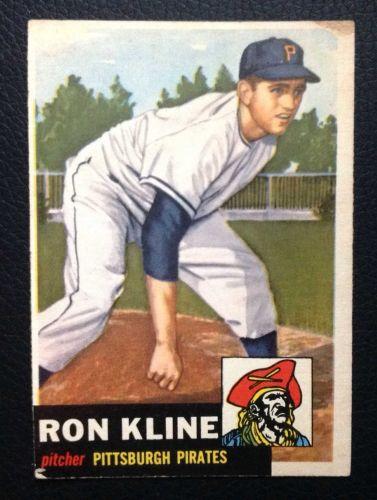 1953 Topps #175 Ron Kline GOOD