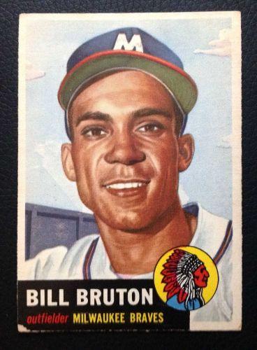 1953 Topps #214 Bill Bruton VG+