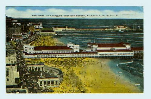 Panorama of America's Greatest Resort, Atlantic City, NJ
