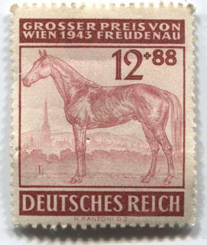 1943 12 +88 Pfenning German Deutsches Reich Hinged slight crease unused
