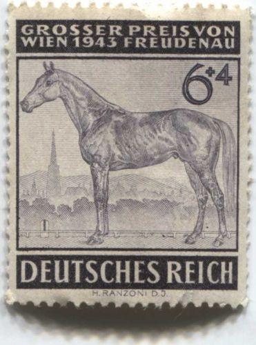 1943 6 +4 Pfenning German Deutsches Reich Hinged slight crease unused