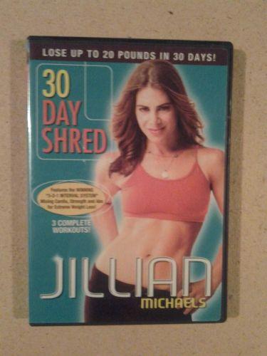 Jillian Michaels 30 day shred 3 workouts DVD