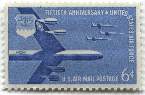 1957 6c AirMail 50th Anniversary US Air Force B-52 Mint Never Used
