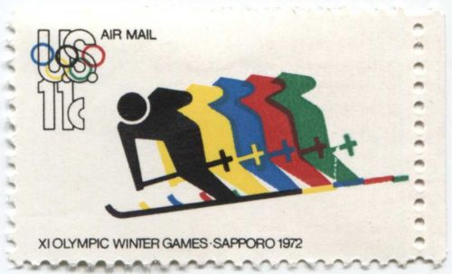 1972 11c XI Olympic Winter Games Sapporo Mint selvage right attached unused