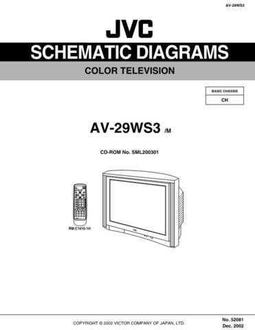 JVC AV-29WS3 schem Service Manual by download Mauritron #192540