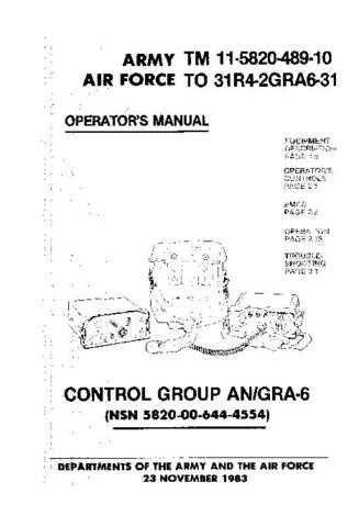 Military GRA6-10 Service Schematics by download #156812
