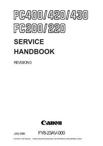CANON FC-220SH Service Manual by download #137721