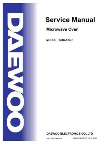 Daewoo KOG-574R (E) Service Manual by download #155036