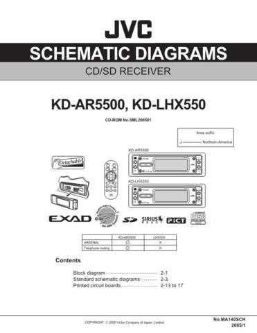 JVC KD-LHX550 Schem Service Schematics by download #156118