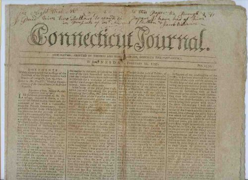 CT New Haven Newspaper Title: Connecticut Journal Date: Feb-22-1797~8