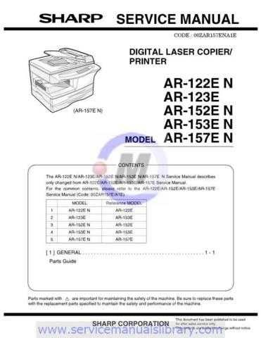 Sharp AR122E-152E-153E-157E SM GB Manual by download #179340