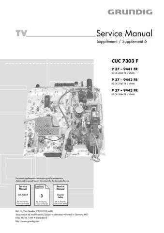 Grundig 019 6600 Manual by download Mauritron #185208