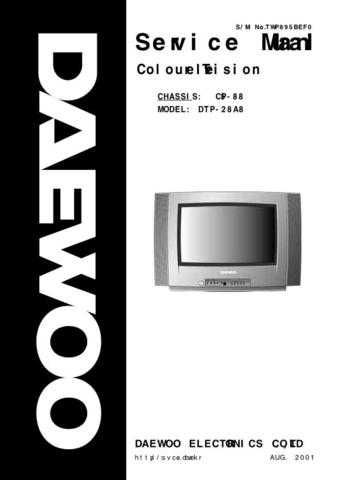 DAEWOO SM DTP-28A8 (E) Service Data by download #150358