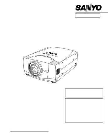Sanyo Service Manual For PLV-80 Manual by download #176005