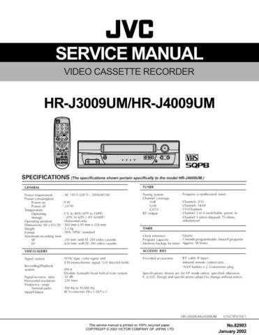 JVC HR-J3009 Service Schematics by download #155923