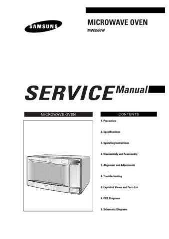 Samsung MW9596W XAXMX032101 Manual by download #164882