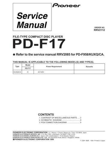 PIONEER R2112 Service Data by download #153147