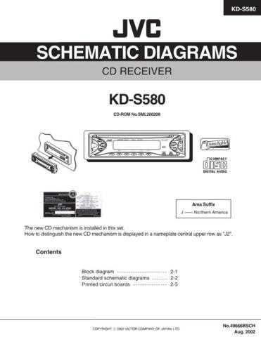 JVC KD-S580 schem Service Schematics by download #156146