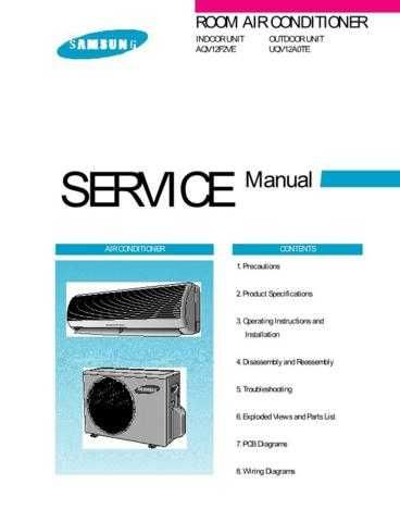 Samsung AQV12F2VE BOLPAN101 Manual by download #163617