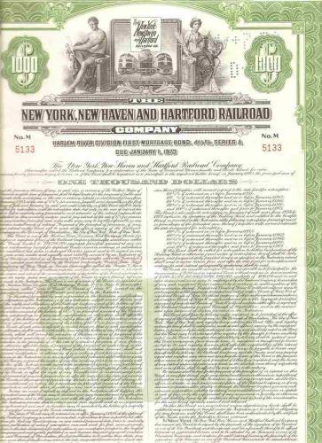 CT New Haven Stock Certificate Company: New York, New Haven and Hartford R~125