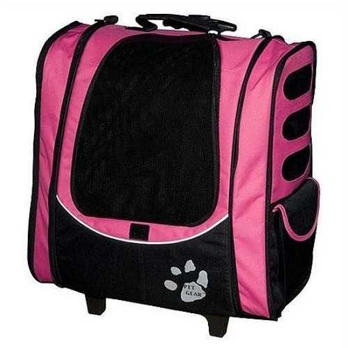 Pet Gear I-GO2 Escort Pet Carrier Car Seat Backpack Pink