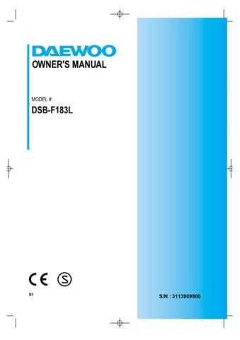 Deewoo DSB-F154PH (P) Operating guide by download #167694