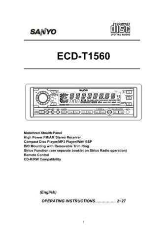 Sanyo ECD-T1540 SIR appvd 5-11-04 Manual by download #174215
