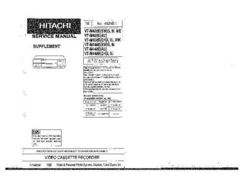 HITACHI No 4521E-1 Service Data by download #147324