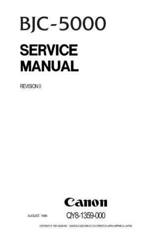 CANON BJC-5000 SERVICE MANUAL by download #146393
