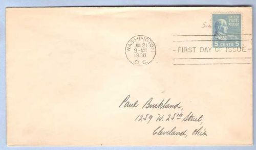 DC Washington First Day Cover / Commemorative Cover James Monroe~35