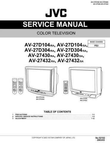 JVC AV-27430 y 27432 Service Schematics by download #155330