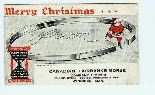 CAN Winnipeg Ink Blotter Advertising Canadian Fairbanks Morse Company Limi~25