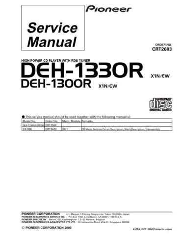 PIONEER C2603 Service Data by download #148990