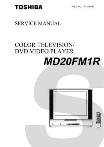 TOSHIBA MD20FM1R SVCMAN ON by download #129496