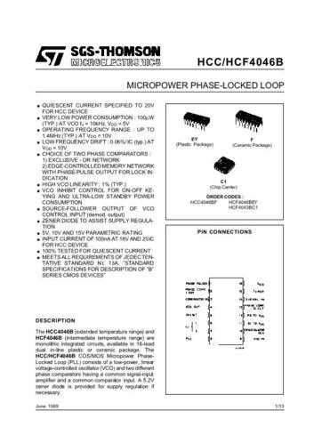 SEMICONDUCTOR DATA 4046J Manual by download Mauritron #186899