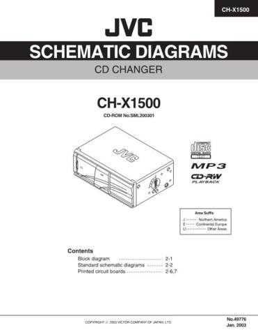 JVC CH-X550 schem Service Schematics by download #155476