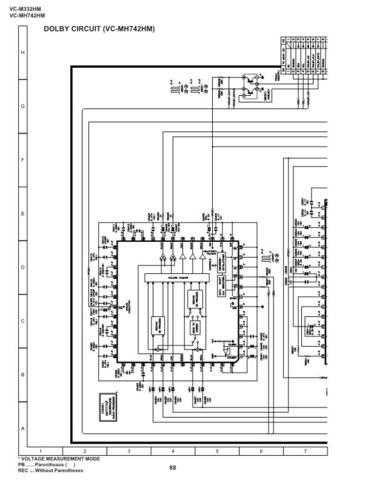Sharp VCMH742HM-030 Service Schematics by download #159299