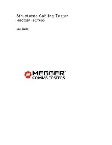 Megger SCT500 Operating Guide User Instructions by download #180752