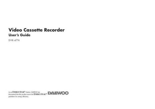 Daewoo DVT47N Manual by download Mauritron #184201