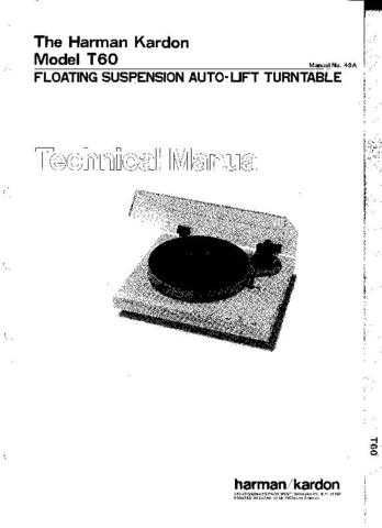 INFINITY T60 SM Service Manual by download #151586