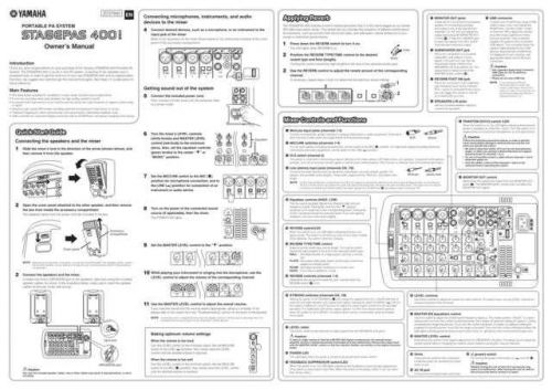 Yamaha STAGEPAS400I EN OM A0 Operating Guide by download Mauritron #205333