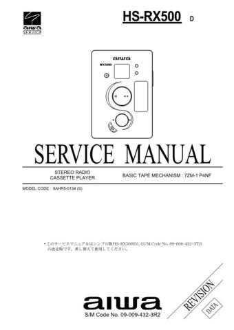 AIWA HS-RX418 SERVICE INFO by download #125295