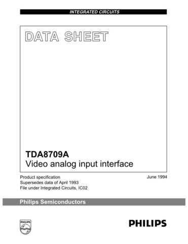 MODEL TDA8709A Service Information by download #124875